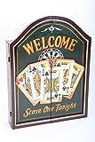 point-home armoire à jeu de fléchettes, jeu de fléchettes, cible pour jeu de fléchettes, style rétro 'Welcome'