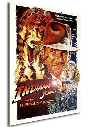 Poster Indiana Jones and The Temple of Doom Vintage Movie Poster - A3 (42x30 cm)
