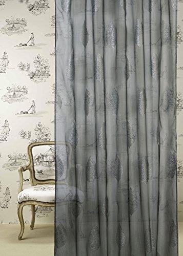 Athènes Home Textile Aranjuez Voilage de Salon avec 100% Polly Crepe Pattes 140 x 265 cm