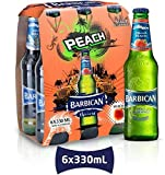 "Barbican Peach Flavor Malt Beverage"" Non Alcoholic"" Drink - Pack of 6 Glass Bottles 330ML !"