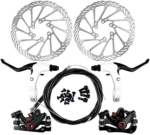 Yorbay Disco de Freno NV5 BD-09 160mm para Bicicleta Blanco