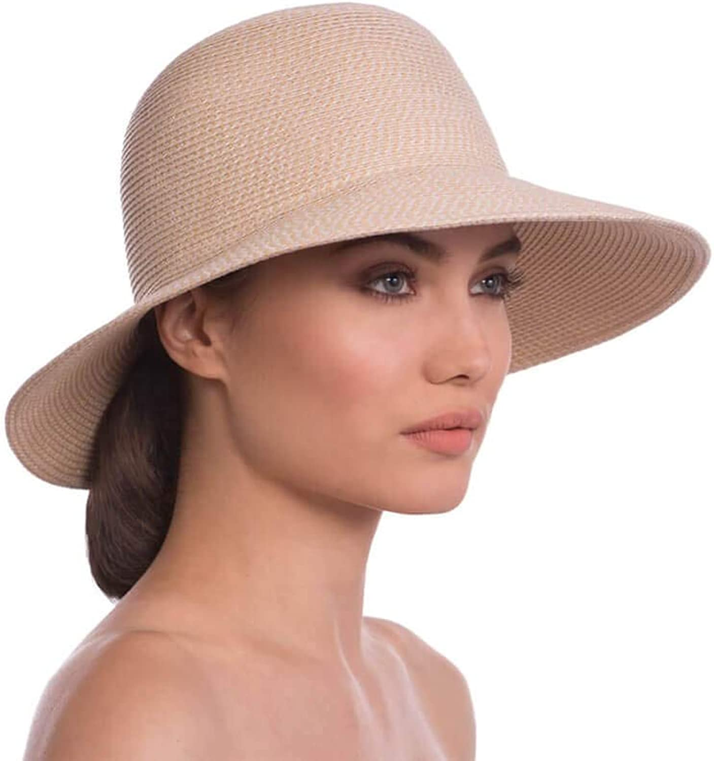 Eric Javits Luxury Designer Women's Headwear Hat  Squishee IV  Cream