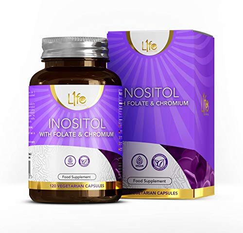 LN Inositol, Folate & Chromium Supplement | 120 High Strength Vegan Tablets - 500mg Myo-Inositol, 100μg Folate & 50μg Chromium per Capsule | Non-GMO, Gluten, Dairy & Allergen Free