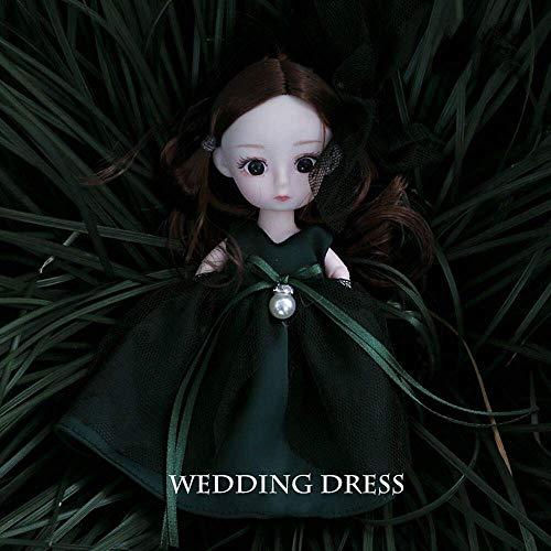 ETDWA 6.2 Pulgadas Simulación Muñecas de Boda Vestido de Novia Princesa Muñeca Niña Vestir Ragdoll Juguete Moda Juguetes para niños Casa de Juegos Juego de muñecas Día del niño Regalos de cumpleañ