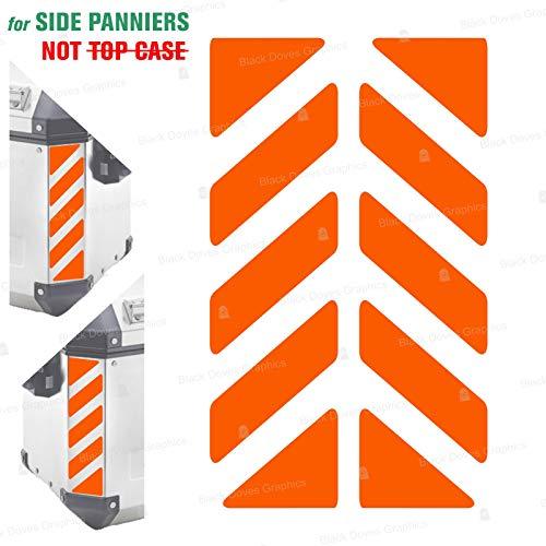 2pcs Adhesivos Reflectantes сompatible con Bolsas Laterales GIVI Trekker Outback 37L 48L (Orange)