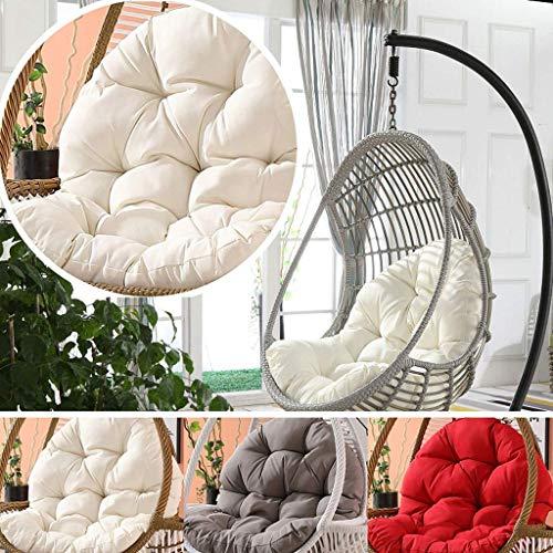Yuany Egg hangstoel kussen, dikke, hangstoel, schommelstoel, kussen voor binnenshuis, buiten tuin, hangmandje, 90x120cm (kleur: wit)