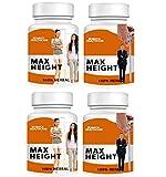 Zemaica Healthcare Max Height Growth -Ayurvedic Medicine - Women/Men 120 Capsule Pack of 4