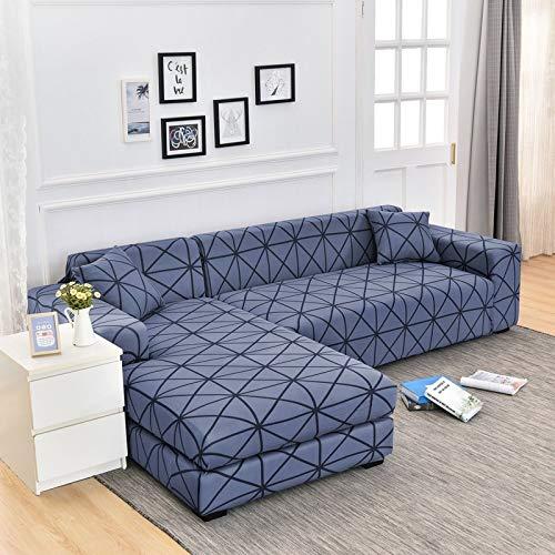 Fundas de sofá de Esquina geométricas para Sala de Estar Fundas elásticas para sofá Funda de sofá elástica Toalla en Forma de L Necesita Comprar 2 Piezas A15 4 plazas