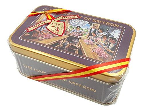 Zafferano spagnolo filamenti 10 grammi in scatola