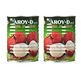 Aroy-D Canned Fruits (Lychee in Syrup, 2 Pack)