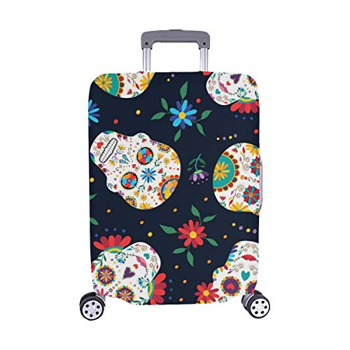 (Solo Cubrir) Day Dead Seamless Pattern Traditional Mexican Stock Stock Pattern Trolley Maleta...