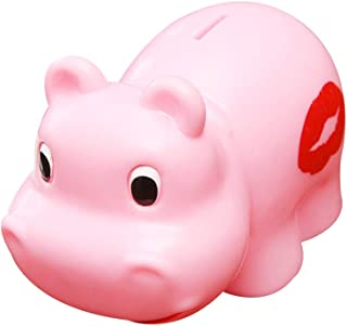 ESALINK Cute Pink Hippo Money Banks Piggy Bank Baby Toy for Kid's Birthday Gift Unique Baby Gift Nursery Décor Savings Toy Bank