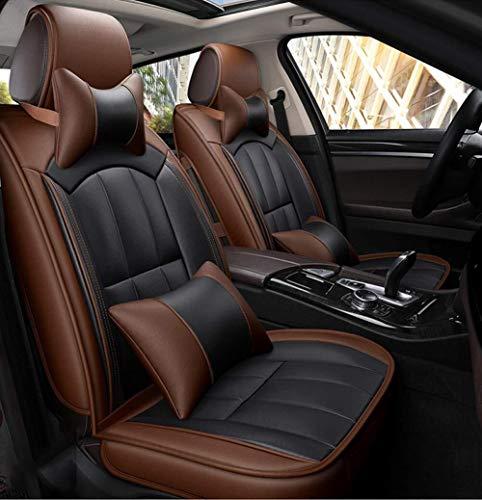 Xypc auto stoel kussen 5 stoel volledige set, anti-slip suede basis materiaal auto stoel cover dubbele stof en lederen auto stoel, ademend