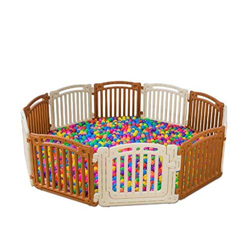 lcia-Baby Playpen PláStico para BebéS, Corral para BebéS, Cerradura De Seguridad Y Salud Ambiental, Doble Almohadilla, 63 Cm De Altura, Adecuado para NiñOs PequeñOs (10 Paneles De Actividades)