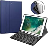 ProElite Detachable Wireless Bluetooth Keyboard case Cover for iPad 2018 (6th Gen), iPad