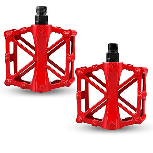 yue Bicycle Cycling Bike Pedals, Anti-slip Mountain Cycling Pedals, Aluminium Alloy Universal Cycling Bike Pedals for BMX Mountain Bike, MTB, City Bike, Road Bike Pedals