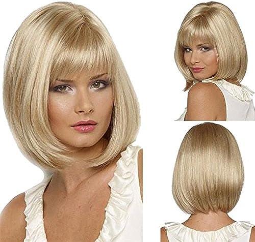 Wiged Nicht Mainstream Pers ichkeit Perücke, Amerikanische Bobo Kopf Perücke Liu Haidan Blonde Kurze Haare Gerade Haarschnitt, Bild Farbe 4 Stück Wigstealth Leistung Partei Der R
