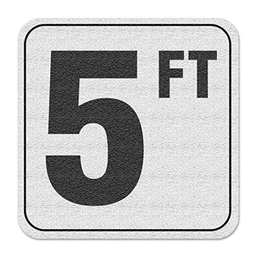 Aquatic Custom Tile Vinyl 3M Adhesive Swimming Pool Deck Depth Marker 5 FT, 4 inch Font