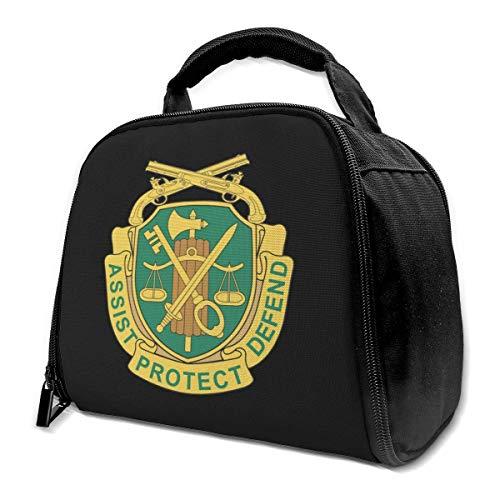 NE US-Militärpolizei Crest Assist Protect verteidigen isolierte Tasche Lunch Bag isolierte Lunchbox Einkaufstasche Kühltasche für Picknickarbeiten