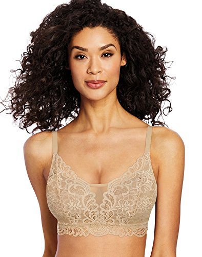 Bali Women's Lace Desire All Over Lace Wirefree Bra, -latte lift, X LARGE