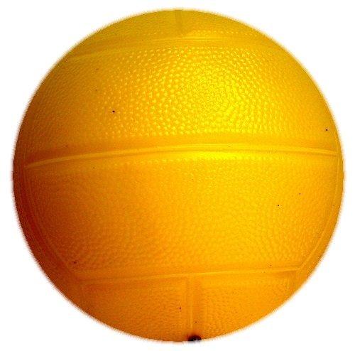 【マイカラーボール】 (6インチ/直径15�) マイカラードッチボール (パール色) (1個セット) (黄色)