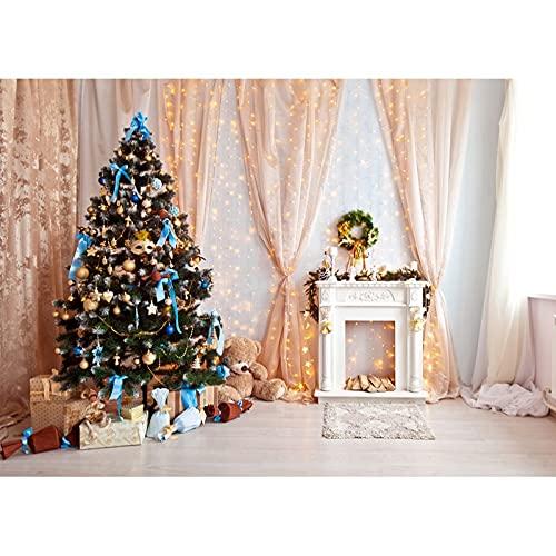 Fondo de fotografía de Tema de Navidad de Vinilo Fondo de Retrato de niño Fotografía de Estudio posando Accesorios A19 10x10ft / 3x3m