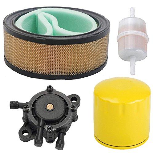 OxoxO Filtre à air, Filtre à huile, Pompe à essence avec filtre à essence 2405013-s pour tondeuse à moteur Ch11-ch15 Cv11-cv22 M18-m20, Mv16-mv20 et K582 Cv640 Sv730 Sv810 Remplace 5205002s 5205002