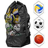 DORYUM 110 49 cm Mesh Equipment Bag Adjustable Drawsting Mesh Ball Bag for Coaches Waterproof Soccer Ball Bag for Football Basketball Volleyball, Best for Outdoor & Water Sports (A)