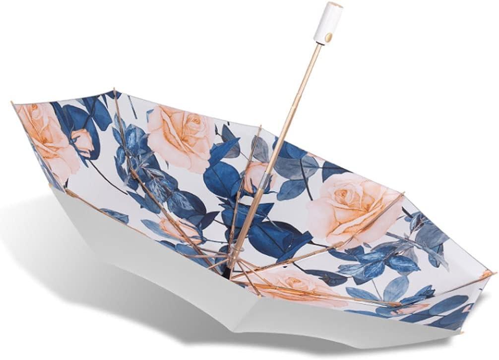 QIAOLI Paraguas Plegables Paraguas Impreso Floral Paraguas Abierto Abierto Y Cerca DE LA Mujer DE LA Mujer DE UNA Siguiente UMBRALA Compacto for Mejores Y Mujeres Paraguas para Hombres y Mujeres