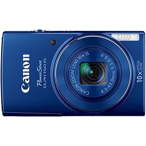 Canon PowerShot ELPH 150 IS Digital Camera (Blue)