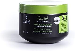 Lehit - Coctel 8 En 1 Multivitaminico Repolarizador Tratamiento Capilar Cuidado Para El Cabello Alimento Y Nutricion Repar...