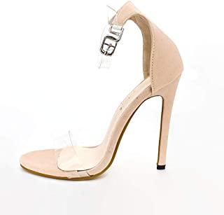 High-heeled sandals New Summer Super high heel Sandals Rough Fish Head open-toed Sandals Large size women shoes