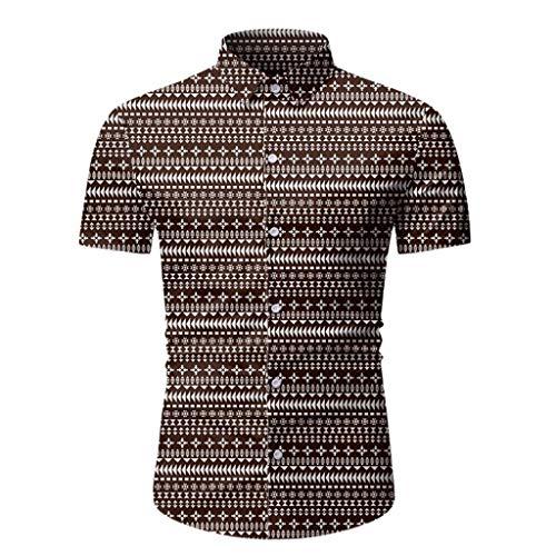 Aoogo Herren Hawaiihemd 3D Gedruckt Muster Kurzarm Revers Freizeit Hemd Button Down Graphic Hemden Shirts