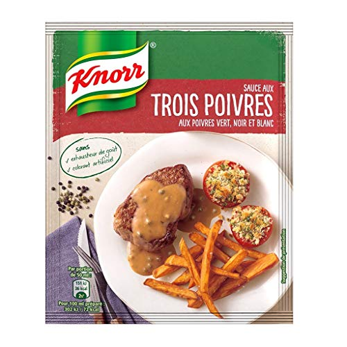 Knorr Pack Knorr Sauce Aux Trois-Pfeffer Grüner Pfeffer In Schwarzweiß-32G (6er-Pack)