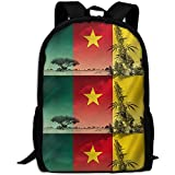 G.H.Y Bandera de Camerún Mochila de Viaje para Adultos Mochila Escolar Escolar Casual Oxford Bolsa para computadora portátil al Aire Libre Bolsas de Hombro universitarias