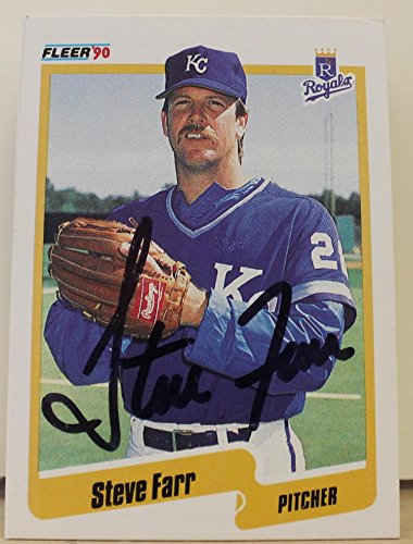 Steve Farr Kansas City Royals Autographed 1990 Fleer Card #107. This item comes with a certificate of authenticity from Autograph-Sports. Autographed