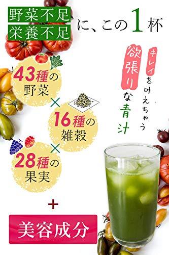 『DearEat(ダイエット) フルーツ 青汁 大麦若葉 ケール 明日葉 3種配合 プラセンタ ヒアルロン酸 セラミド ペプチド 配合で美容もサポート「 国産 54種の野菜 23種のフルーツで美味しいから長続き」30包 (1個単品)』の1枚目の画像