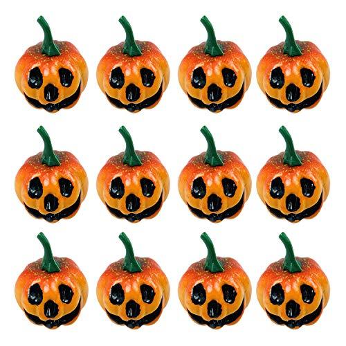 semen Halloween deko Kürbis Herbstdeko Set Herbst Natur Deko Speisekürbisse Zierkürbisse- Dekokürbisse für Halloween 12/Pack
