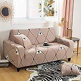 PPMP Fundas de Spandex para sofá para Sala de Estar, Funda elástica para sofá, Fundas para sillón, Protector de Muebles, A5, 3 plazas