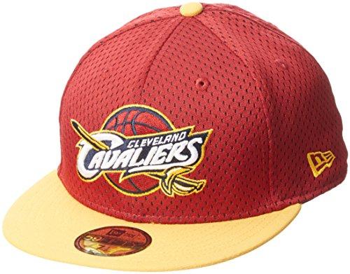 New Era NBA Sports Mesh Cleveland Cavaliers OTC - Cappello da Uomo, Colore Rosso, Taglia 7 1/4