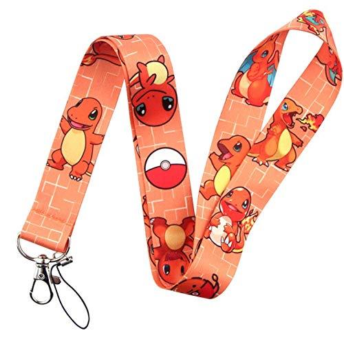 Lanyard Charmander Pokemon | Cordón para el Cuello | No Pierdas más tus Llaves | Llavero para Móvil Mascarilla Teléfono y Llaves| Regalo Original