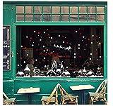 3D Snow Flake House Castle Christmas Window Sticker, White Christmas Shop Showcase Stickers Etiqueta De La Pared, Decal Festival Drop Ship