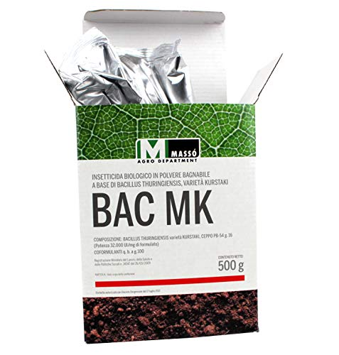 MASSÓ Insetticida Biologico a Base di Bacillus Thuringiensis BAC-MK 500 Grammi