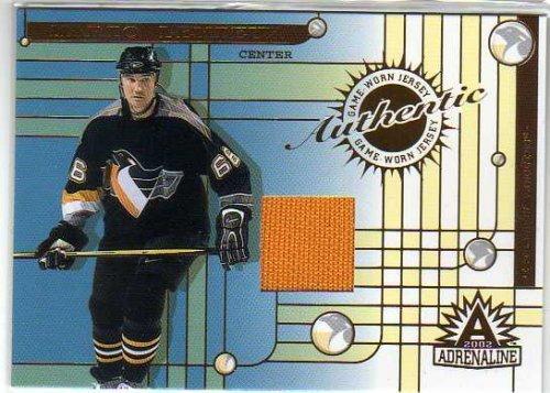 2001-02 Pacific Adrenaline Jerseys #38 Mario Lemieux Game-Worn Jersey Card - Penguins