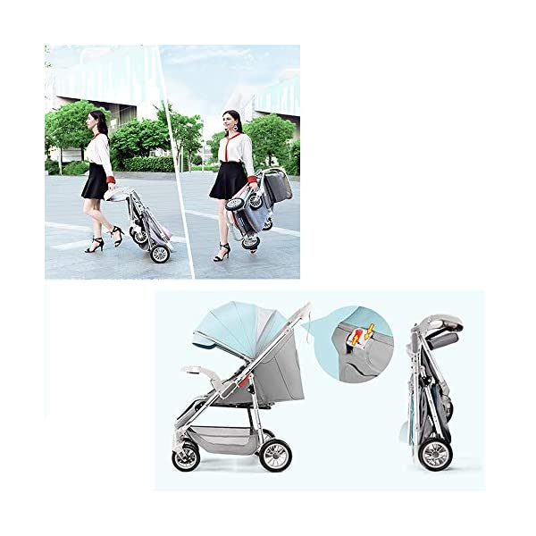 3-in-1 Adjustable Stroller The Stroller Can Be Converted into A Chair That Can Be Turned and Tilted High-Quality Foldable and Portable New Baby Multifunctional Strollercool and Breathable Stroller Makeups Function: 3 in 1; color is blue; compatibility: 0-42 months baby; load capacity: 0-15 kg. Sit or lie down comfortably at home, shopping or traveling. Easy to fold: A case that can be easily and quickly folded with only one hand. The size is reduced, which is ideal for travel and trunk space. The seat can be flipped, the baby can face you or on the street; the car seat can be divided into 3 levels of tilt: 100°-145°-180° (sitting, tilting and sleeping). 3