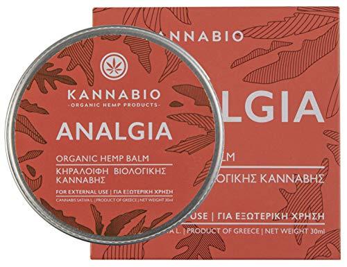 Analgia Hanfbalsam zur Schmerzlinderung von Kannabio | Natürliche Hanfsalbe für Muskeln und Gelenke | 30ml