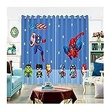 LIJIE Cortinas De Dibujos Animados Cortinas Modernas Cortina Colección Vengadores Cortinas De Dos Piezas para Salón Y Dormitorio (Color : B, Size : 52x63inch-2panels)
