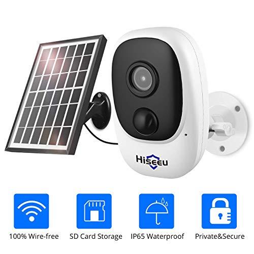【Upgraded】 Hiseeu 1080P Solar Wireless...