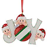 MAXORA Joy Family of 3 Personalized Ornament for Christmas Tree Decoration - Free Customization