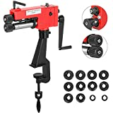 7 inch Rotary Sheet Metal Bead Roller Steel Bender,Bead Roller Kit Steel Bender Metal Forming Steel Bender Stability Smooth Low Carbon W/ 6 Die Sets US